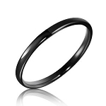 Soffi 2mm Black Domed Tungsten Ring