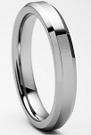 Nicollo Tungsten Beveled Ring 4mm
