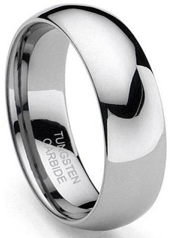 Classic 8mm Tungsten Carbide Ring Mens Tungsten Classic Wedding