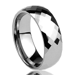 Mercury Faceted Tungsten Ring 8mm