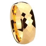 Gold Mercury Tungsten Carbide Ring 8mm