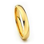 Gold Classic Tungsten Ring 4mm
