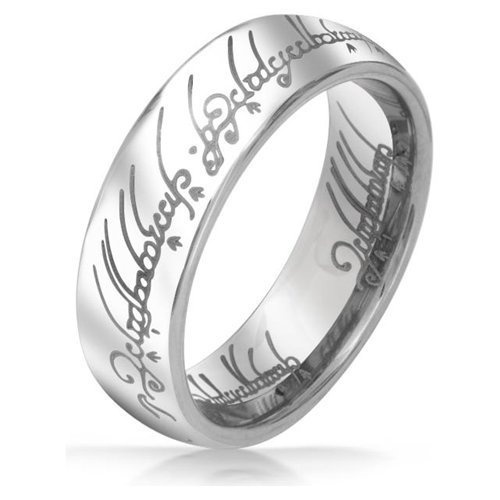 home all tungsten rings lord of the rings silver tungsten 6mm - The One Ring Wedding Band