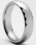 Mercury Faceted Tungsten Ring 6mm