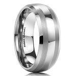 Corso Classic Tungsten Two Toned 8mm Ring
