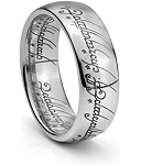 Lord of The Rings Tungsten Ring 8mm