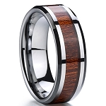 Max Tungsten Carbide Wooden Inlay Ring