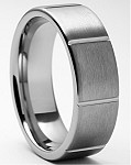 Cicero 9mm Brushed Tungsten Carbide Ring