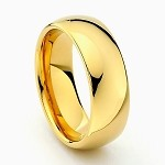 Gold Tungsten Carbide Ring 8mm