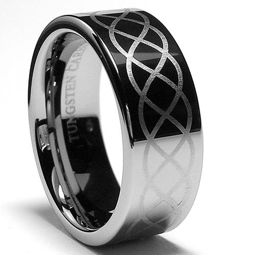 odyssey infinity tungsten ring 8mm - Tungsten Mens Wedding Ring