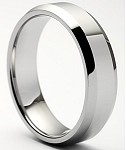 Nicollo Beveled Tungsten Ring 8mm