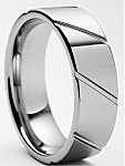 Oris 8mm Tungsten Carbide Ring