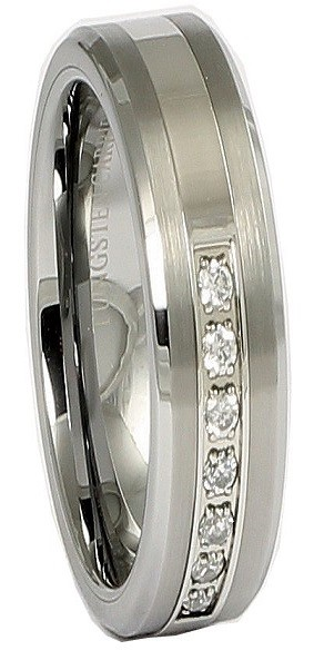 Pretse 6mm Tungsten Carbide Beveled Ring