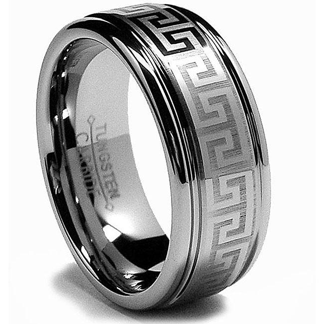 Home All Tungsten Rings Greek Key Ring