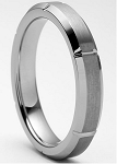 Bellus 4mm Beveled Tungsten Ring 4mm