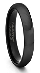 5mm Black Domed Tungsten Ring