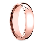 6mm Rose Gold Classic Tungsten Ring