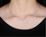 Sterling Silver Timeless Bar Necklace