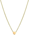 Gold Womans Heart Necklace