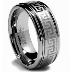 Greek Key Tungsten Ring
