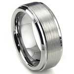 Sabu Brushed Two Toned Tungsten Ring 8mm