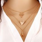Gold Tri-Layer Necklace