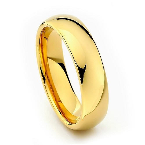 Gold Classic Tungsten Ring 6mm