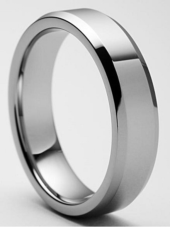 Nicollo Beveled Tungsten Ring 7mm