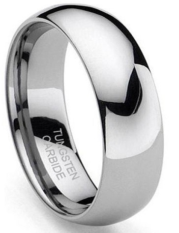 Classic Domed 8mm Tungsten Ring