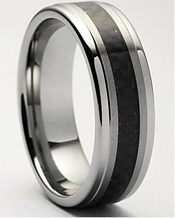 Tuscano Tungsten Carbon Fiber Ring