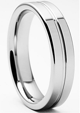 Devin Polished Tungsten Ring 7mm